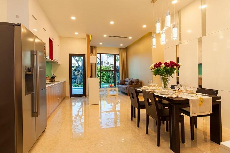 căn hộ mẫu the golden star phòng khách