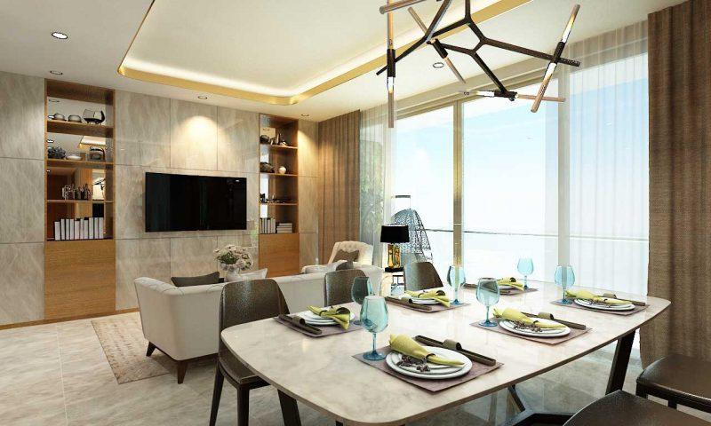 thiết kế căn hộ 3 phòng ngủ Hưng Phát Blue Star